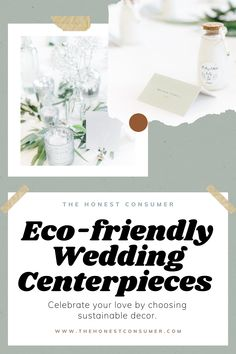In this guide featuring my eco-friendly wedding centerpieces, I'll walk you through how I designed my tables featuring the flowers, recycled glass bottles, wedding place cards, & more. Early on in the wedding planning process I knew I wanted to focus on natural, earthy tones and include as many sustainable elements as possible. #weddingdecor #weddingcenterpiece #centerpiece #greenerywedding #weddingideas #weddinginspiration #weddingplanning #weddings Wedding Places, Wedding Place Cards, Unique Wedding Centerpieces, Wedding Decorations, Wedding Vendors, Weddings, Recycled Glass Bottles, Sustainable Wedding, Eclectic Style