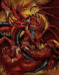 Slifer the sky dragon Yu gi Oh Desenho Yu Gi Oh, Fantasy Creatures, Mythical Creatures, Atem Yugioh, Manga Art, Anime Art, Yugioh Dragons, Gurren Laggan, Yugioh Monsters
