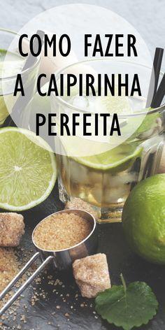 Caipirinha Drink, Caipirinha Recipe, Chef Recipes, Great Recipes, Cooking Recipes, Bar Drinks, Alcoholic Drinks, Cocktail Recipes, Cocktails