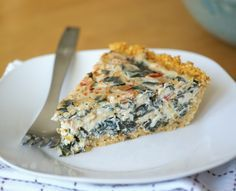 Classic Tofu Quiche: a simple gluten-free, dairy-free and vegan main dish for brunch or dinner! Quiche Recipes, Brunch Recipes, Vegan Quiche, Spinach Quiche, Vegetable Quiche, Yummy Quiche, Whole Food Recipes, Cooking Recipes, Vegan Main Dishes