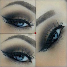 gentle brown smokey eye