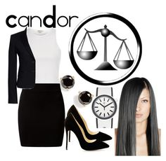 """""""Candor"""" by aquatic-angel ❤ liked on Polyvore featuring River Island, Kate Spade, Swatch, New Look and Canvas by Lands' End"""