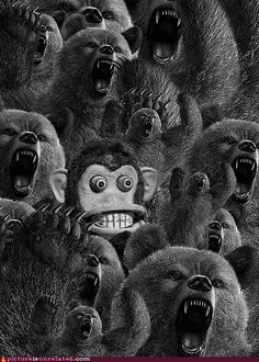 Little Known Fact: Bears Are Enraged By Cymbal Playing Monkeys