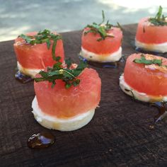Watermelon and feta small bite appetizer | Farm to Table Catering | Grass Valley + Nevada City, Ca | www.farm2tablecatering.com