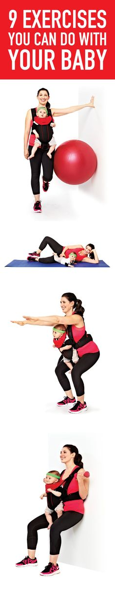 Ready to get moving again? Start with these gentle yet effective exercises you can do with your baby.