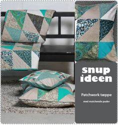 Patchworktæppe+med+matchende+puder++SNUP+GRATIS+PDF+ved+at+klikke+på+ikon+under+dokumenter. +-+stof2000.dk