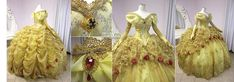 Belle from Beauty and the Beast - fireflypathbridal (Note: Insanely the best version of Belle's dress)