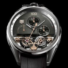 Tag Heuer MikroPendulumS Concept Chronograph - Twin magnets regulate a breakthrough tourbillon movement