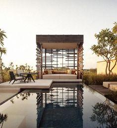 Alila Villas Uluwatu Resort on the southern coastline of the Bukit Peninsula in Bali.