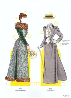 Worth Fashion Review Paper Dolls (15 of 16) by Tom Tierney, Dover Publications
