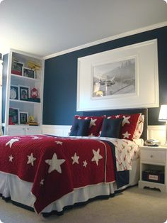 red white and blue bedding - Google Search