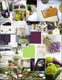 purple and green wedding - pretty wedding colors
