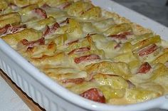 Kassler – Kartoffel – Gratin - New Site Pork Recipes, Cooking Recipes, Good Food, Yummy Food, Sauce Tomate, Daily Meals, Diy Food, Macaroni And Cheese, Food Porn
