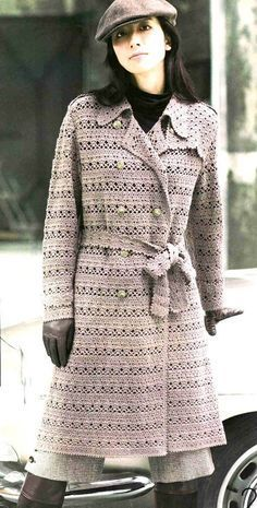 Crochet coat, free pattern