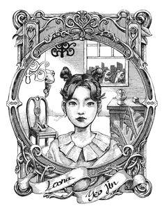 """햇칭 on Twitter: """"현진수정 하슬 여진 리터칭 #loona #이달의소녀 #현진 #hyunjin #loonafanart… """""""