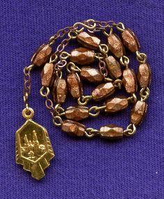 Elegant Goldstone Gilded Chaplet of St. Anne from vintage-venerations on Ruby Lane
