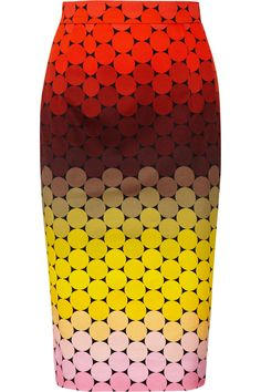 "Adorable Jonathan Saunders ""Axel"" polka-dot stretch-cotton twill pencil skirt. ""Try it with a crisp white shirt for work, switching to a chunky-knit sweater and statement necklace for dinner with friends."""