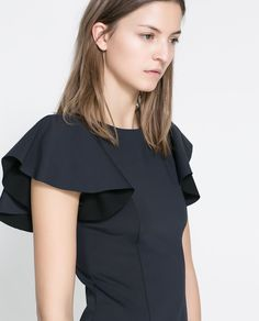 Image 6 of DRESS WITH FRILLY SLEEVES from Zara