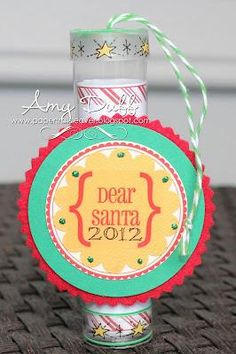 SRM Design Team member Amy Duff and her daughter created SRM Mini TUBES for Christmas using SRM Stickers including our newest Labels by the Dozen.  SRM Stickers are perfect for crafting with kids!  See more on the SRM Blog:  www.srm-stickers.blogspot.com