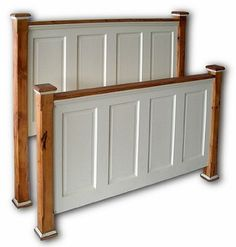 Recycled door headboard - great idea - can be painted any color too...
