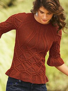 06b7ab899894e5 Love the detail on this sweater Knit Or Crochet