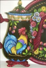 ROOSTER AND CHERRIES COFFEE POT  ROSEMARY WEST, CDA  PATTERN PACKET