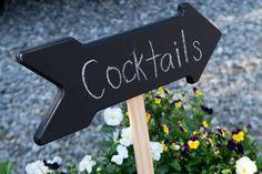 Chalkboard cocktail sign {Aida Krgin Photography}