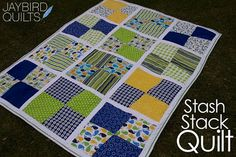simple charm pack baby quilt idea by jaybird quilts
