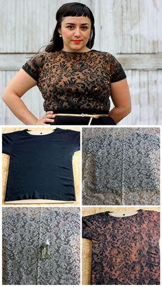 DIY Bleach Lace Shirt