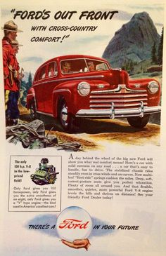 """Vintage Ford ad - """"There's a Ford in your Future"""" KyTradeCo.com"""