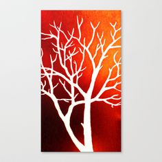 Blazing Trees Stretched Canvas by Morgan Ralston - $85.00