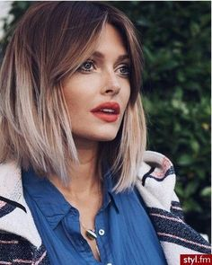 Short ombre hair – Hair is Art Haircuts For Medium Hair, Short Hair With Bangs, Long Bob Hairstyles, Summer Hairstyles, Short Hair Cuts, Medium Hair Styles, Short Hair Styles, Bob Haircuts, Hairstyle Short