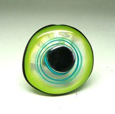 Interchangeable Topper for Rings, Pendants, Bracelets, 2.5mm, Art Glass, Art Jewelry, by BeaStoertz