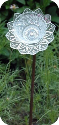 Garden plate flower made from old china plate and cup!