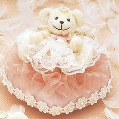 WW-104ハートのリングピローピンク 手作りキット<シェリーマリエ・リングピローコーナー> Ring Pillow, Marie, Teddy Bear, Pillows, Wedding, Ideas, Valentines Day Weddings, Ring Pillows, Ring Bearer Pillows