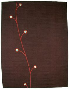 "perhaps i could modify this for a curtain panel. [called ""Vine Appliqué,"" by Denyse Schmidt}"
