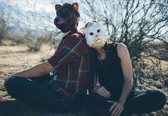Animal Mask Engagement Photo Props // Photo: Caleb John Hill