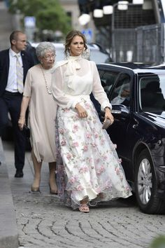 15 June 2017 - Swedish Royal Family attend Polar Music Prize - skirt by Ida Sjöstedt, sandals by Marchesa, clutch by Bottega Veneta