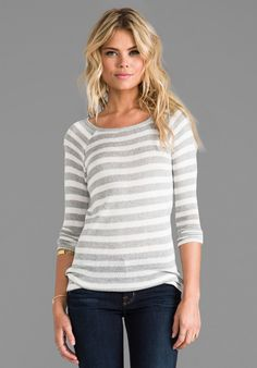 Soft Joie Dayla Stripe Top in Gray - Revolve Clothing | Ador