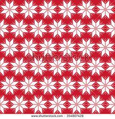 Seamless snowflake pattern; Christmas ornament