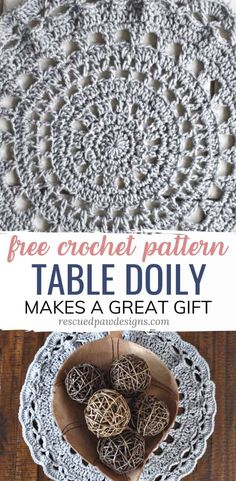 Crochet Table Doily Pattern - Free to use! Learn how to crochet a doily step by step with this FREE Pattern! Make many crochet doilies for your house, table top and or as a gift too! Free Mandala Crochet Patterns, Crochet Patterns For Beginners, Knitting Patterns, Crocheting Patterns, Quick Crochet, Crochet Home, Crochet 101, Crochet Rugs, Simple Crochet