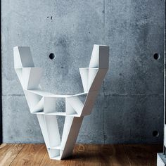 BEdesign Deer Shelf made of metal shaped like a #deer #skull