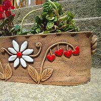 Keramika / Zboží | Fler.cz Hand Built Pottery, Slab Pottery, Ceramic Pottery, Ceramics Projects, Clay Projects, Clay Crafts, Ceramic Clay, Ceramic Planters, Ceramic Painting