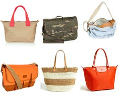 Don't want a diaper bag? Consider a great tote or messenger bag instead! Love these collected by @Tend by Glam