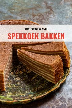 Pin by Anne Gabriel on Lecker in 2020 Dutch Recipes, Pastry Recipes, Sweet Recipes, Cake Recipes, Vegan Recipes, Dutch Bakery, Cake Oven, Pandan Cake, Baking Bad