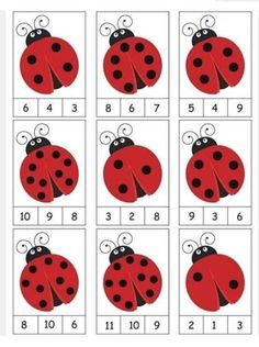 ladybug counting activity More on math and learning in general zentral-lernen.de Source by tinkerbel Counting Activities, Preschool Learning Activities, Preschool Activities, Space Activities, Math Games, Color Activities, Activity Games, Montessori Math, Numbers Preschool