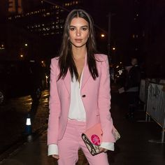 Emily Ratajkowski Is On Message in a Pink Power Suit