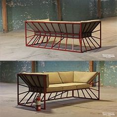 Outdoor Furniture Sofa, Iron Furniture, Steel Furniture, Industrial Furniture, Modern Furniture, Sofa Set Designs, Sofa Design, Wooden Couch, Office Furniture Design