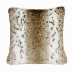 Sierra Nevada Luxury Faux Fur Cushion, Pillow
