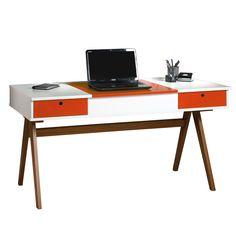 A escrivaninha além de ser a peça principal no seu escritório é também um item importante na #decoração. As cores e o design diferenciado definem o estilo da decoração